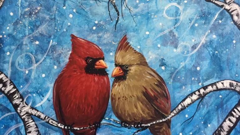 Paint & Sip: Birdie It's Cold Outside